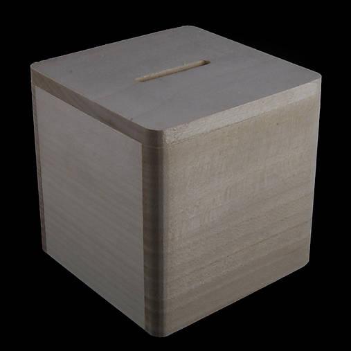 Drevená krabička na peniaze (pokladnička)