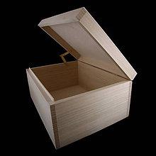 Krabičky - Veľká drevená krabička - 11185942_