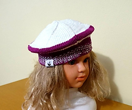 Detské čiapky - Detská baretka cyklamenová - 11188594_