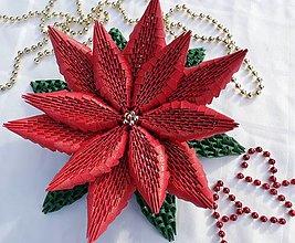 Dekorácie - Vianočná ruža - 11187518_