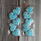 Perníkové MINI srdiečka (Modrá)
