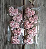 Perníkové MINI srdiečka (Ružová)
