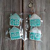 Dekorácie - Perníkový domček vianočný (Červená) - 11188849_