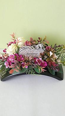 Dekorácie - Spomienkova ikebana s ruzami - 11187102_