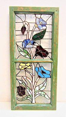 Dekorácie - okno - vitráž - 11189085_