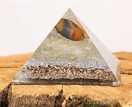 Dekorácie - Cheopsova pyramída - orgonit - 11188028_