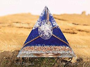 Dekorácie - Tetrahedron  pyramída - orgonit - 11188951_