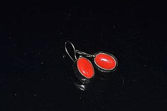 Náušnice - rudé (Tyrkysová) - 11187658_