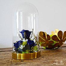 Dekorácie - Dekorácia s modrými ružami - 11189071_