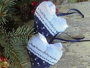 Dekorácie - Vianočné srdiečko ako darček-folk - 11187119_