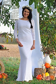 Šaty - Čipkové šaty - svatební, možno i pro těhotné - 11187295_