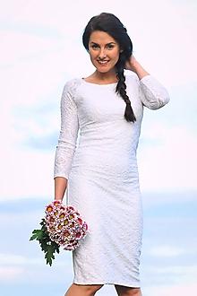 Šaty - Krajkové svatební, možno i pro těhotné - 11187304_