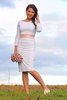 Šaty - Bílé šaty - svatební, možno i pro těhotné - 11187337_