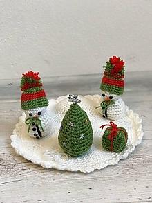 Dekorácie - biela snežná Vianočná krajinka - 11188406_
