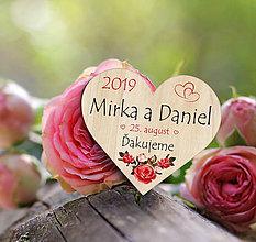 Darčeky pre svadobčanov - Svadobná magnetka - 11191757_