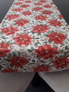 Úžitkový textil - Štóla - Vianočná ruža so zlatou potlačou - 11191152_