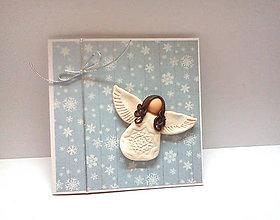 Papiernictvo - Pohľadnica ... Anjelské vianoce II - 11190423_