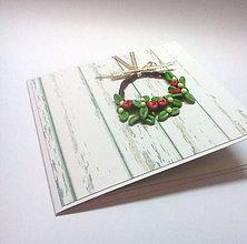 Papiernictvo - Pohľadnica ... vianočný veniec I - 11190488_