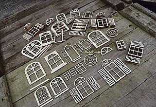 Dekorácie - výrezy na želanie...okná a dvere na domčeky - 11190968_
