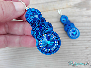 Náušnice - Blue...soutache - 11190459_