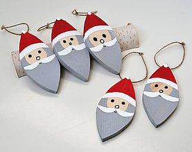 Dekorácie - Drevená vianočná ozdoba-Mikuláš - 11189591_