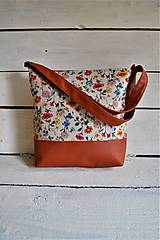 Veľké tašky - Beige Flowers - kabelka - 11189791_