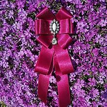 Odznaky/Brošne - Bordová kráska - 11192501_