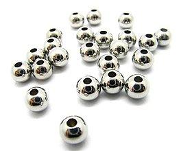 Korálky - Korálka 5x4,5mm, prievlak 1,5mm /M4507/ - nerez.oceľ 304 - 11192521_