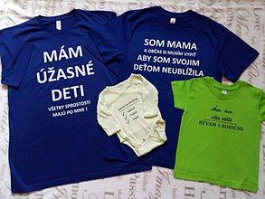Tričká - Set - rodinné tričká 4 ks - 11192039_