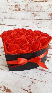 Dekorácie - Srdce z ruží - 11192663_