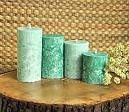 Svietidlá a sviečky - Emerald - adventné sviečky - 11190552_