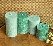 Svietidlá a sviečky - Emerald - adventné sviečky - 11190554_