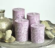 Svietidlá a sviečky - Lilac - adventné sviečky - 11190619_