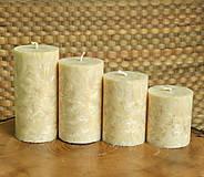 Svietidlá a sviečky - Sandcastle - adventné sviečky - 11190689_
