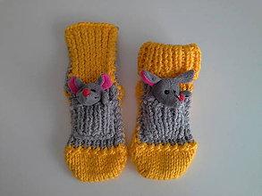 Topánočky - Myšička vo vrecúšku - 11190384_
