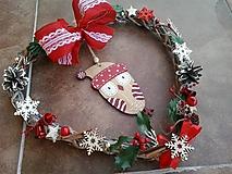 Dekorácie - Vianočné srdiečko soví - 11191373_