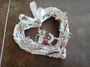 Dekorácie - Vianočné srdiečko - sob - 11191385_
