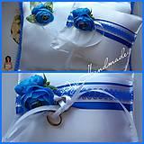 Úžitkový textil - svadobný vankúšik pod obrúčky - 11191852_