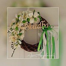 Dekorácie - svadobný venček na dvere - 11190834_
