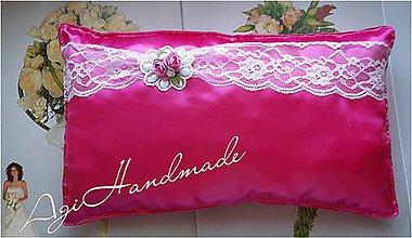 Úžitkový textil - vankúšik k odobierke od rodičov - 11191595_