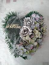 """Dekorácie - Smútočné srdce na dušičky """"sivé"""" - 11192691_"""