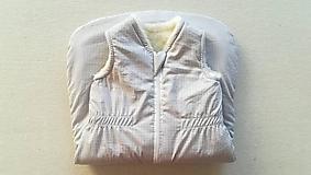 Detské oblečenie - VLNIENKA Spací vak pre deti a bábätká ZIMNÝ 100% MERINO na mieru béžový - 11192078_