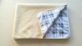Úžitkový textil - VLNIENKA 100 % Ovčie RUNO BARANČEK Deka vlnená Lux Káro SKY BLUE - 11192298_