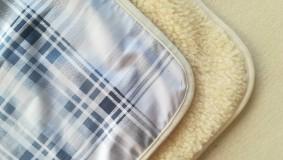 Úžitkový textil - VLNIENKA 100 % Ovčie RUNO BARANČEK Deka vlnená Lux Káro SKY BLUE - 11192299_