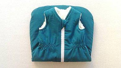 Textil - RUNO SHOP Spací vak pre deti a bábätká ZIMNÝ 100% MERINO na mieru PETROL BLUE - 11192103_