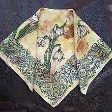 Šatky - Esencie jari- hodvábna maľovaná šatka - 11189443_