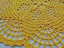 Úžitkový textil - Háčkovaná dečka Zlatistá hviezda - 11189895_