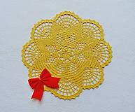 Úžitkový textil - Háčkovaná dečka Zlatistá hviezda - 11189905_