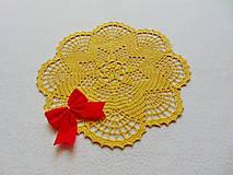 Úžitkový textil - Háčkovaná dečka Zlatistá hviezda - 11189907_