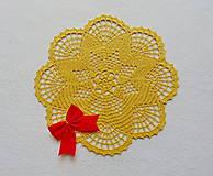 Úžitkový textil - Háčkovaná dečka Zlatistá hviezda - 11189908_